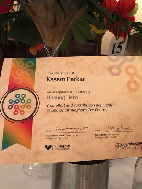 chamberlain awards 2016 kasam parkar