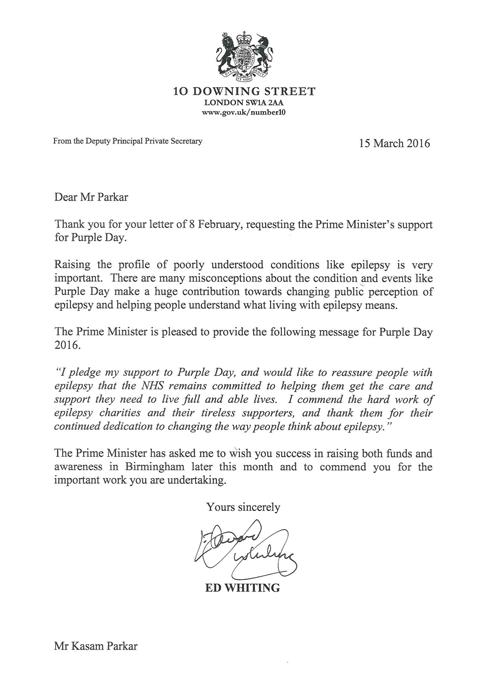 prime minister letter kasam parkar