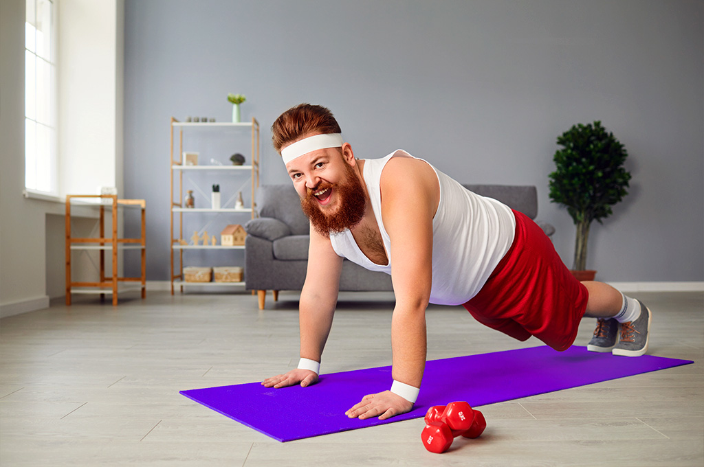 man push up
