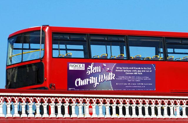 Raising epilepsy awareness with an eye-catching bus advertisement