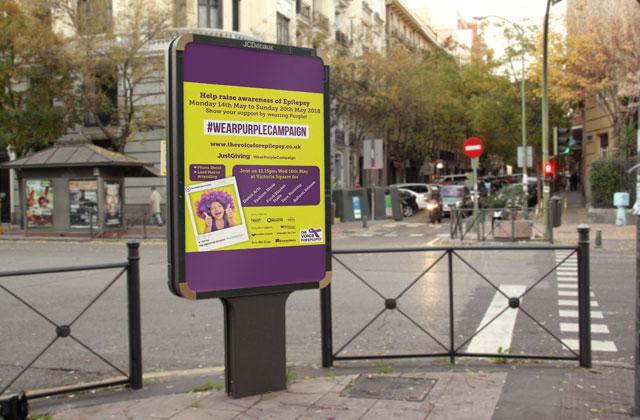Wear Purple Campaign billboard