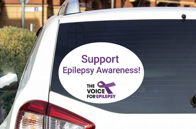 Car stickers are a great way to support epilepsy awareness