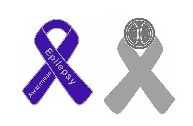 Epilepsy awareness ribbons