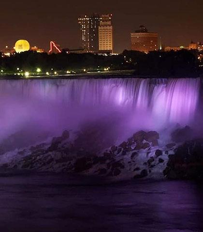 purple landmark