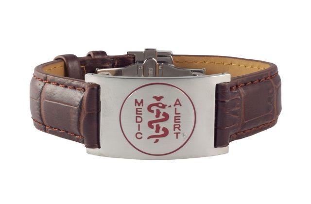 medicalert prestige leather bracelet