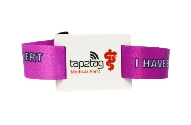 tap2tag medical alert wristband epilepsy